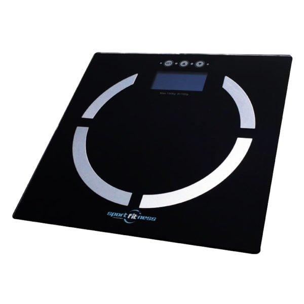 Bascula Electronica Sportfitness 6169 En Vidrio 150 Kg
