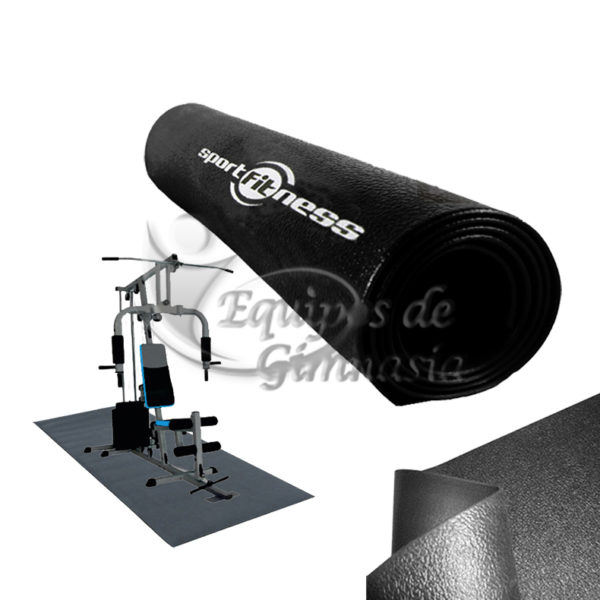 Tapete Piso Caucho Proteccion 6mm Gimnasio Maquinas Equipos