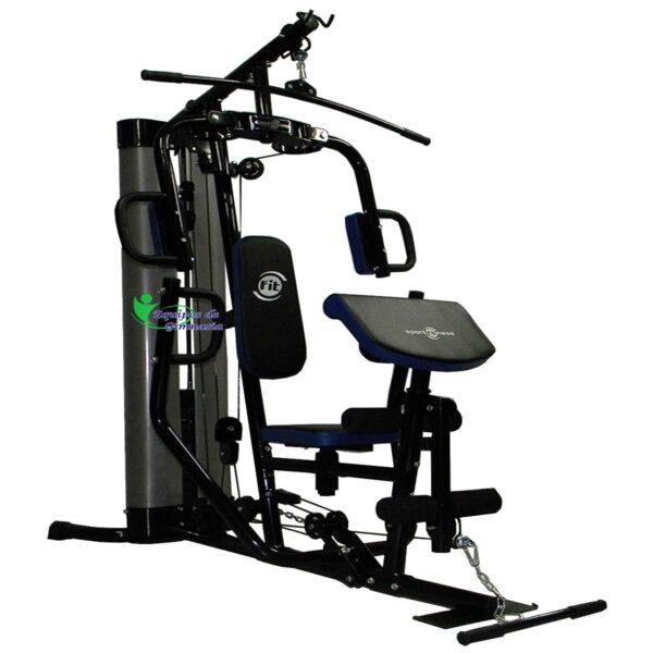 Multigimnasio Institucional 150 lb con Predicador y Remo Sportfitness