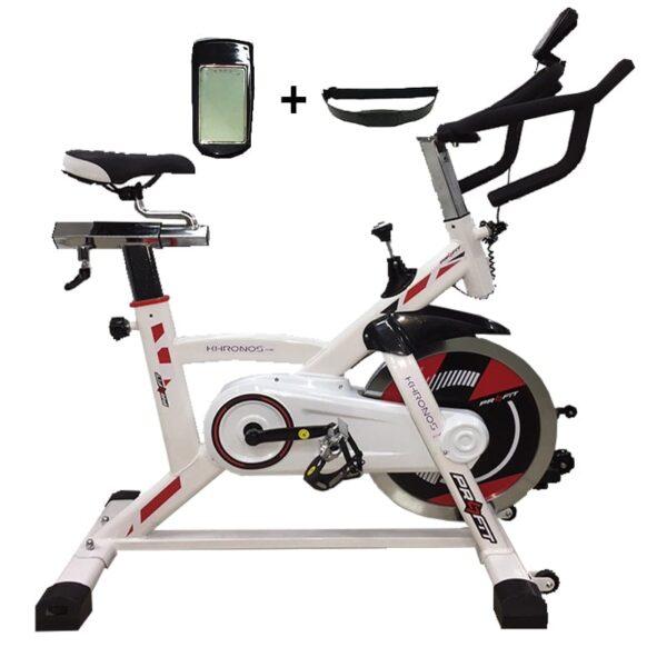 Spinning Bicicleta Profit Khronos Arrastre De Banda 18kg Gym