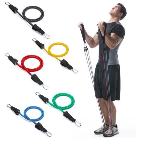 Bandas Elasticas Tubulares X 5 Resistencia Sportfitness