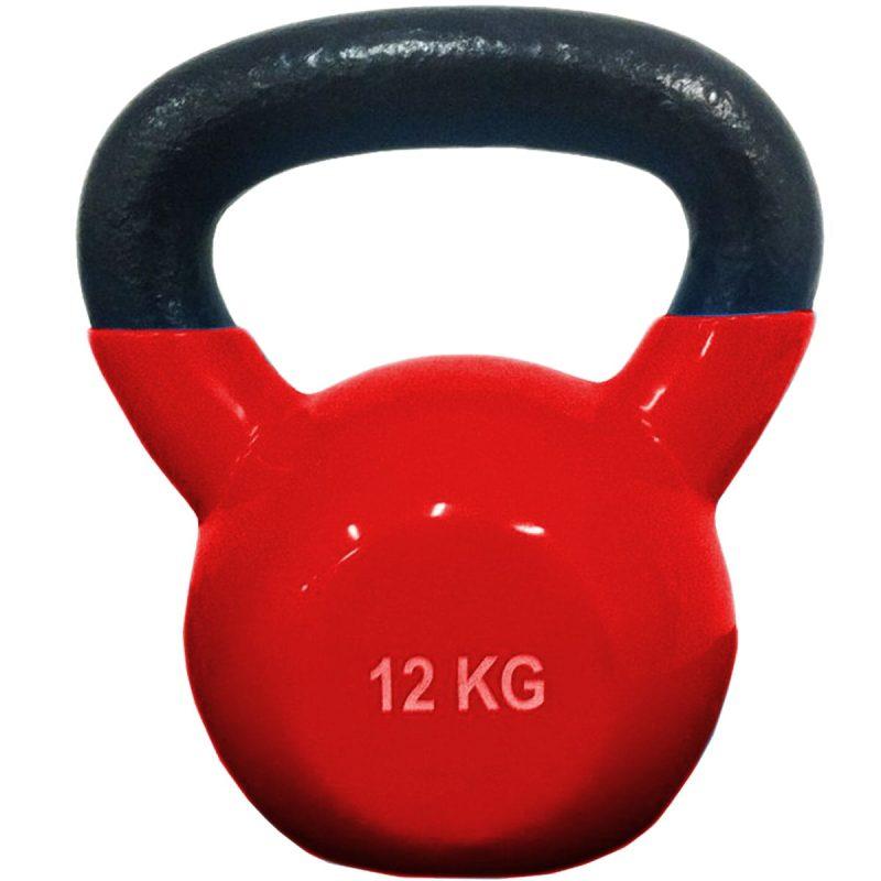 Pesa Rusa Mancuerna Kettlebell 12 Kg Sportiva Encauchada Gym