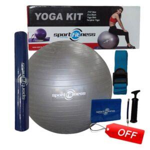 Pilates Yoga Kit Sportfitness Balon Mat Banda Riata Inflador