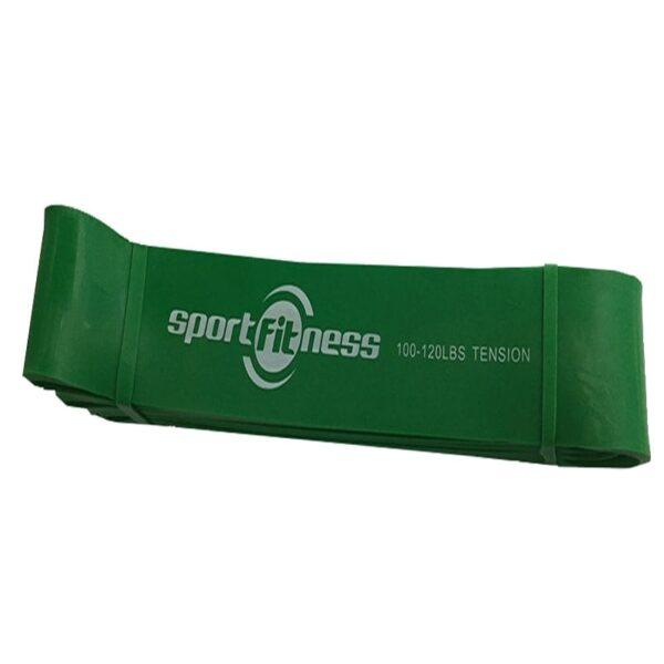 Banda Elastica de Poder Verde 100/120 Lbs Tension Sportfitness