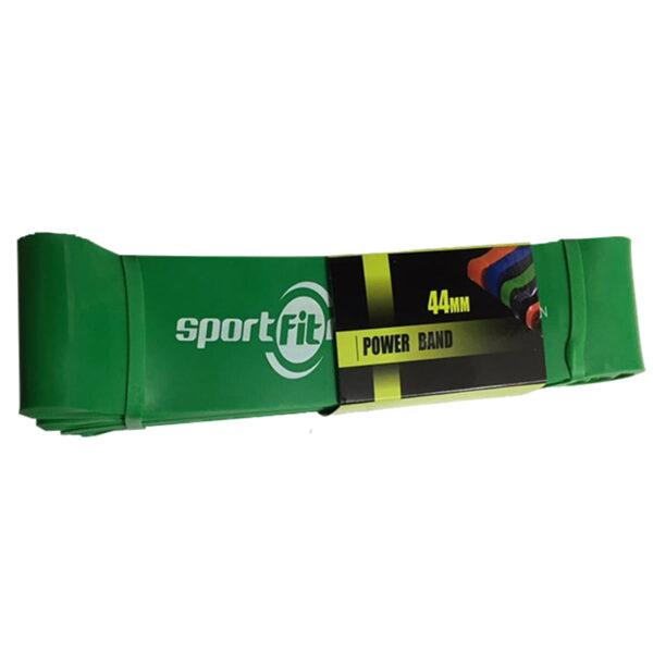 Banda Elástica de Poder Verde Sportfitness 100/120 Lbs Tension