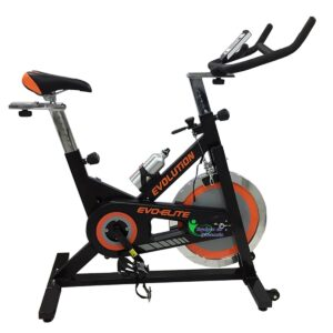 Bicicleta Spinning Elite Evolution Arrastre banda Rueda18 Kg