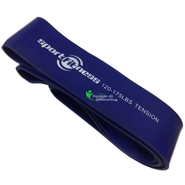 Banda Elastica de Poder Azul 120/175 Lbs Tension Sportfitness
