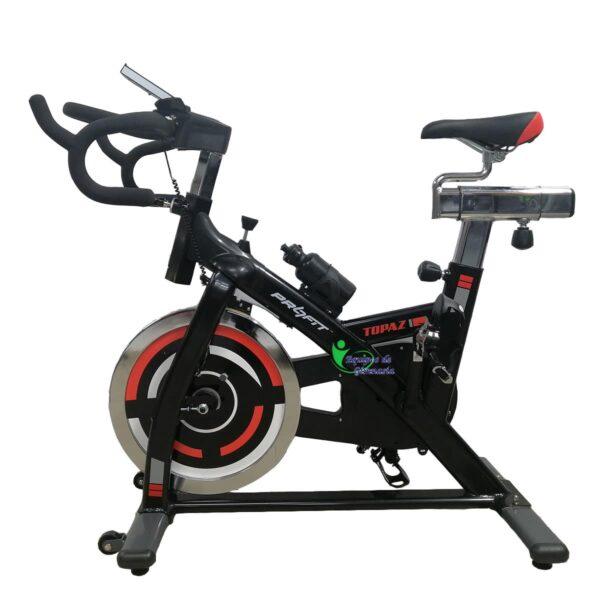 Bicicleta Spinning Topaz R1 Profit Rueda 18Kg Estatica Incluye Banda Torácica